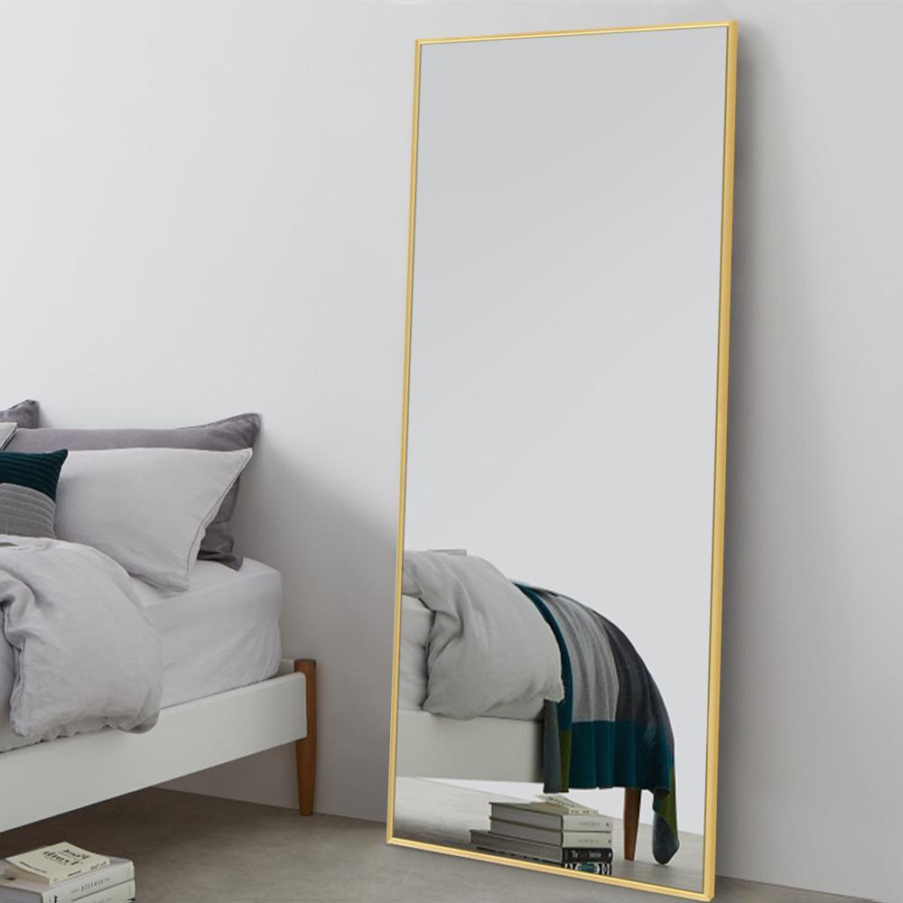 Large Full length Metal Framed Gold Floor Mirror (71 in.x 23.6in.)