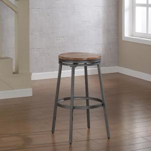 American Woodcrafters Stockton 30 inch Grey Backless Swivel Bar Stool by American Woodcrafters
