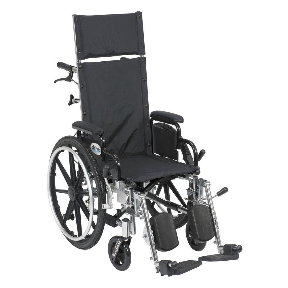 Drive Viper Plus Reclining Wheelchair with Detachable Arm...