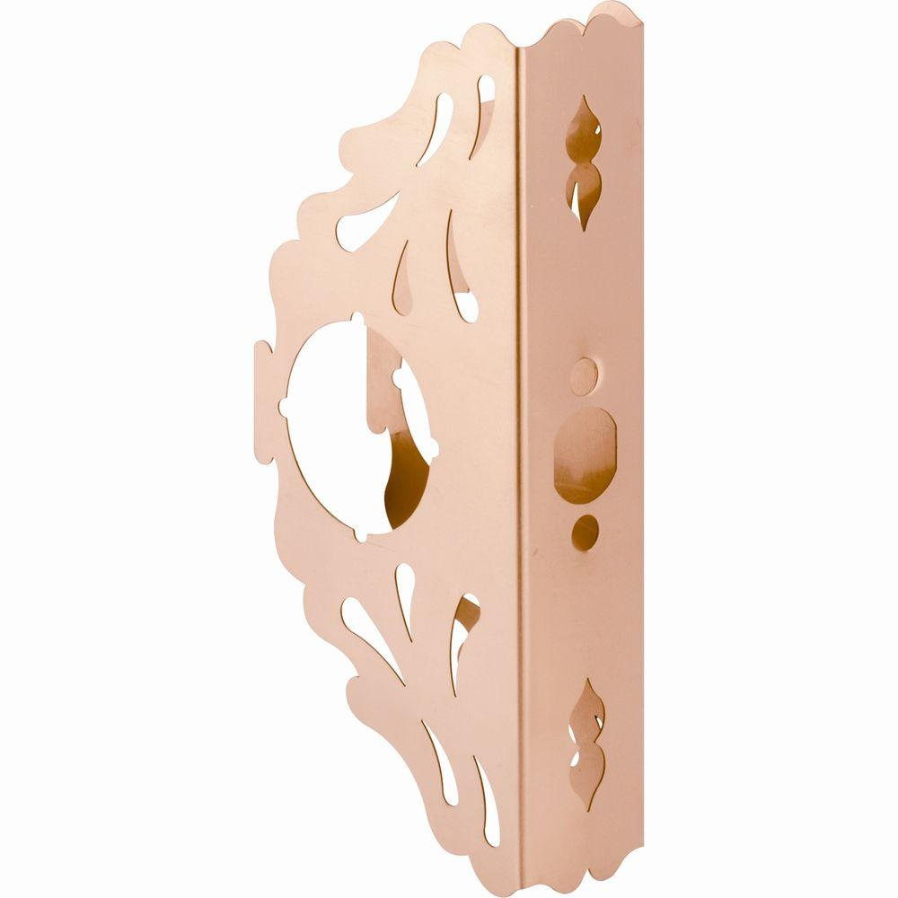 Prime-Line 9 in. Brass Scroll-Style Door Guard, 2-3/8 in. x 1-3/4 in.