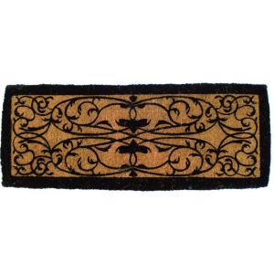 Entryways Iron Gate Border 36 inch x 72 inch Extra Thick Hand Woven Coir Door Mat by Entryways