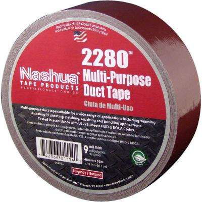 1.89 in. x 60.1 yds. 2280 Multi-Purpose Burgundy Duct Tape