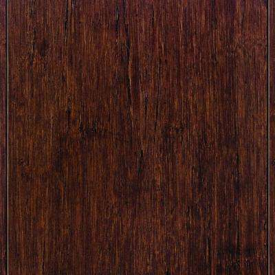 Strand Woven Sapelli Click Lock Bamboo Flooring - 5 in. x 7 in. Take Home Sample