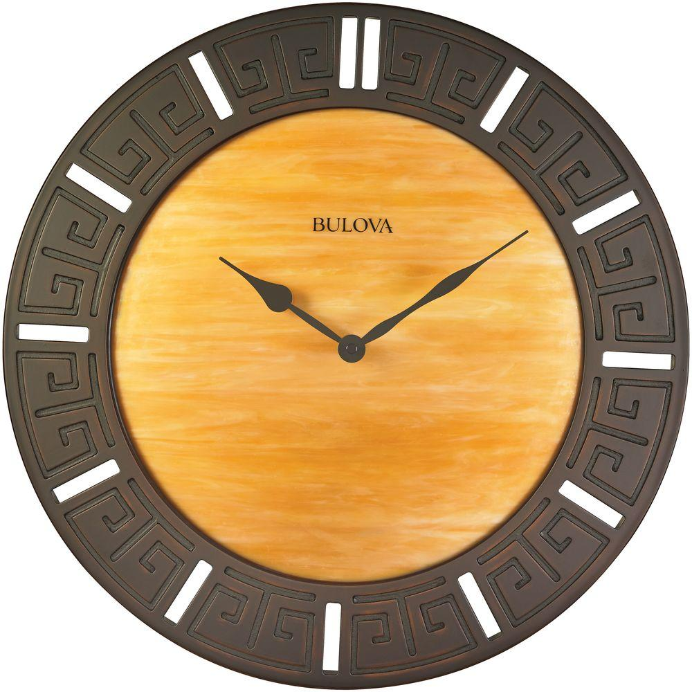 Bulova 18 In H X 18 In W Round Wall Clock C4372 The