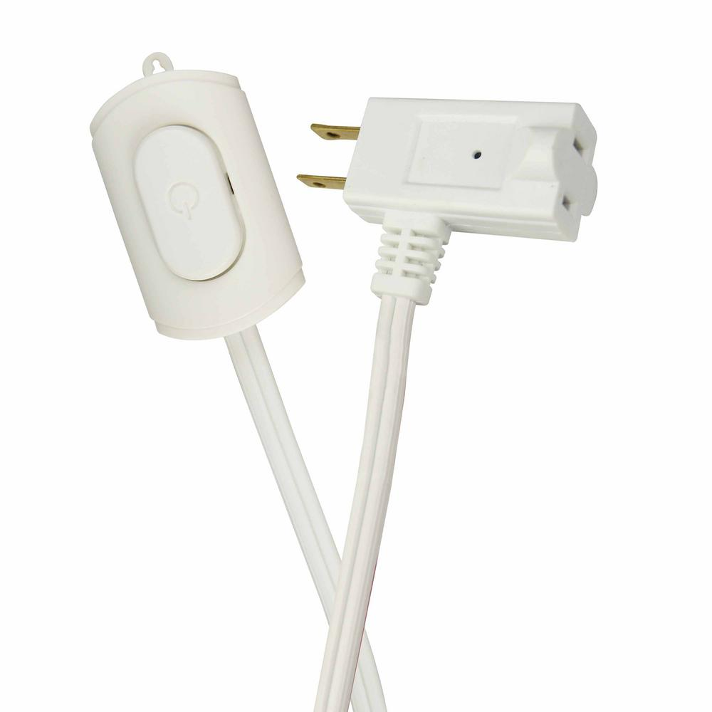 Good 16/2 Indoor Switch Extension Cord, White