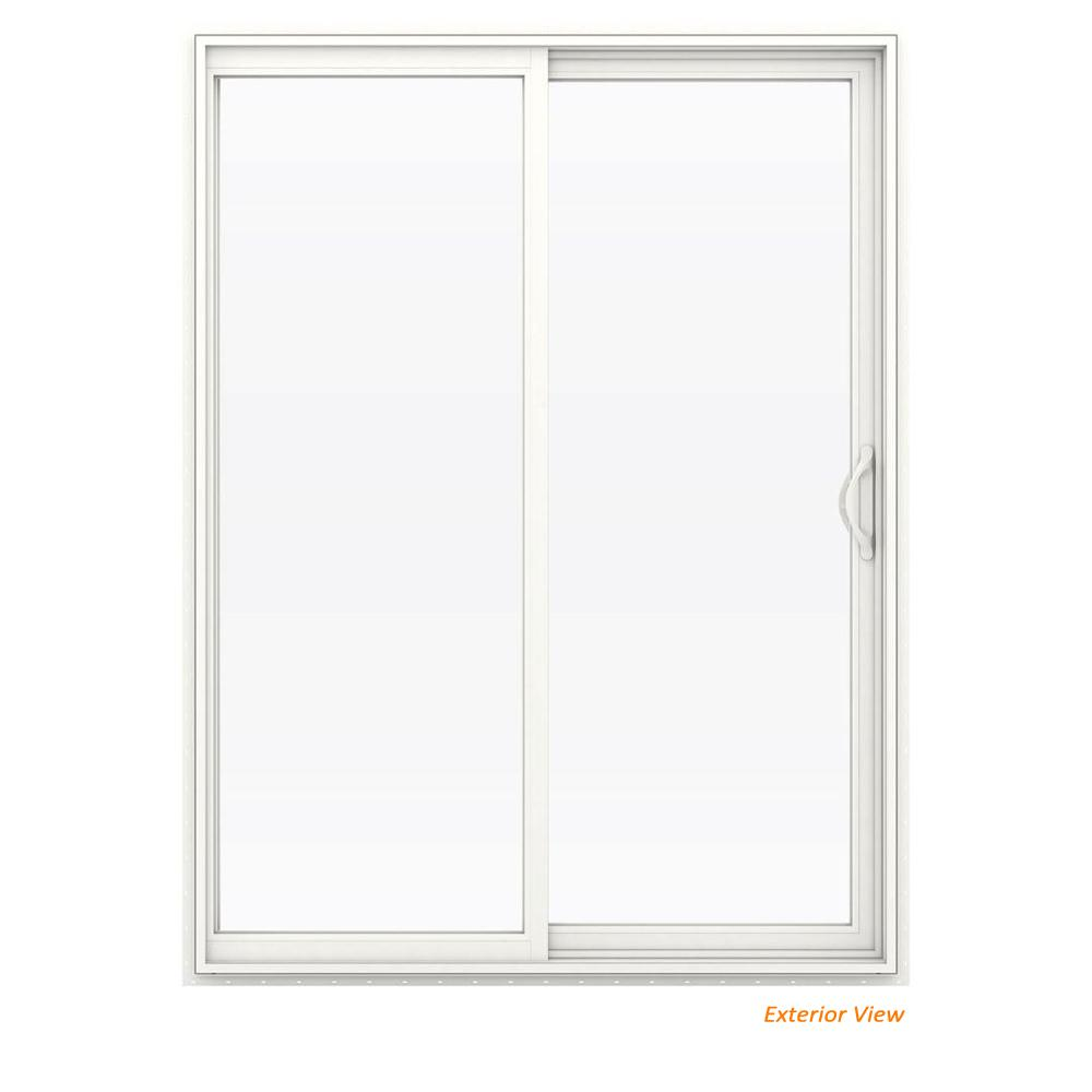60 in. x 80 in. V-2500 White Vinyl Right-Hand Full Lite