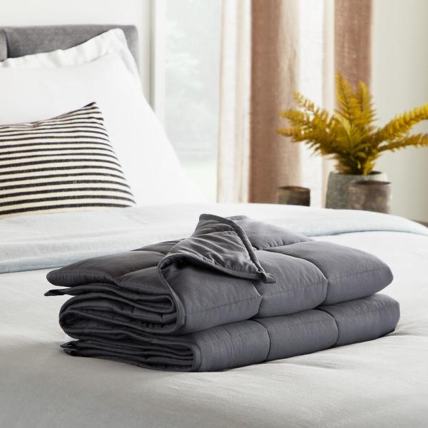 15 lbs. 60 in. x 80 in. - Queen - Gray Weighted Blanket