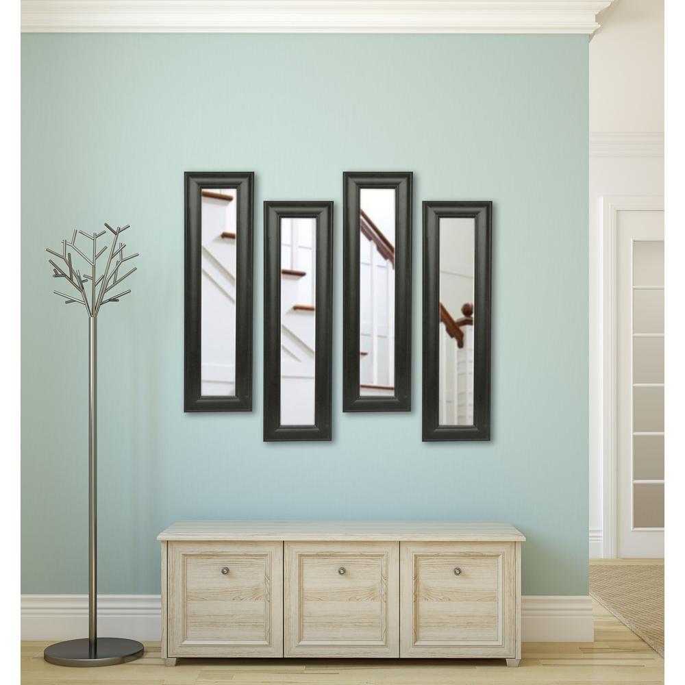 11 in. x 29 in. Brazilian Walnut Vanity Mirror (Set of