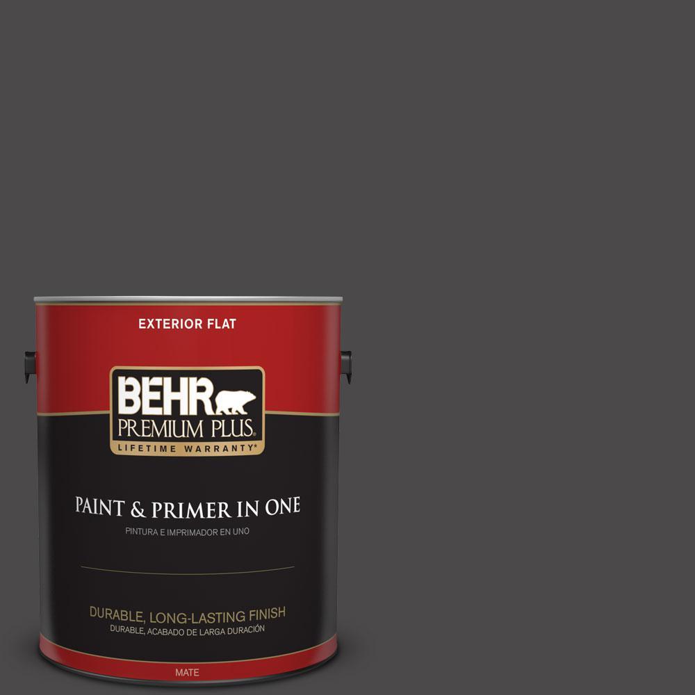 1-gal. #N530-7 Private Black Flat Exterior Paint