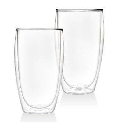 Double Wall 16 oz. Crystal Coffee Glass pair