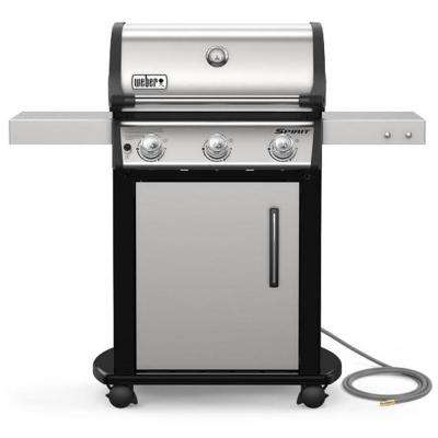 Spirit S-315 3-Burner Natural Gas Grill in Stainless Steel