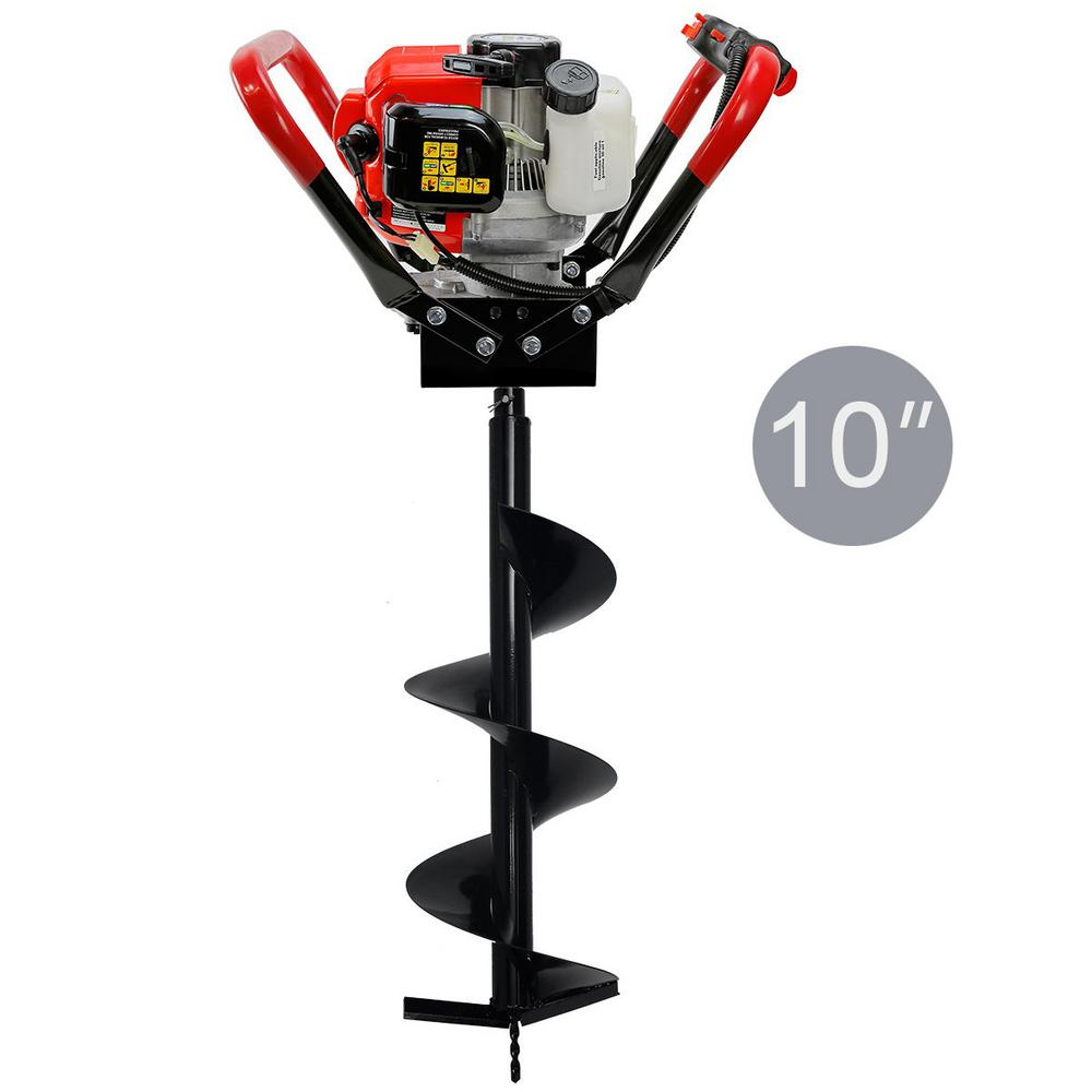 XtremepowerUS 55CC 1-Man Post Hole Digger with 10 in. Bit