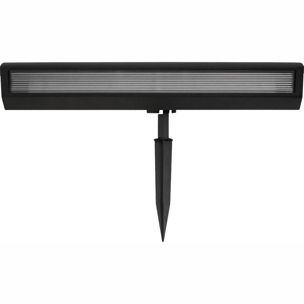 hamptonbay Hampton Bay Solar Black Outdoor Integrated LED Landscape Wall Wash Spot Light