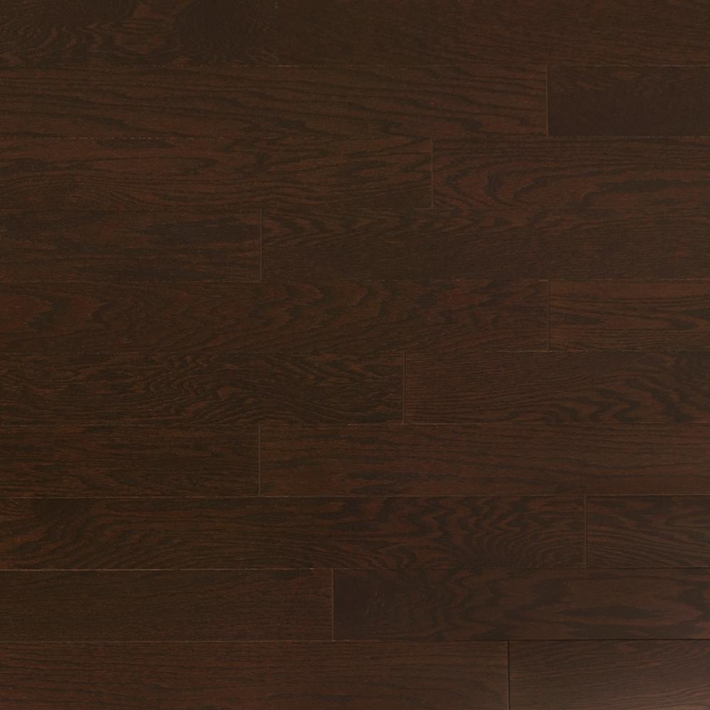 Heritage Mill Take Home Sample Oak Obsidian Engineered Click Hardwood Flooring 5 In. X 7 In.