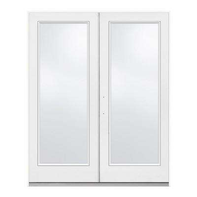 72 in. x 80 in. Primed Steel Right-Hand Inswing Full Lite Glass Stationary/Active Patio Door
