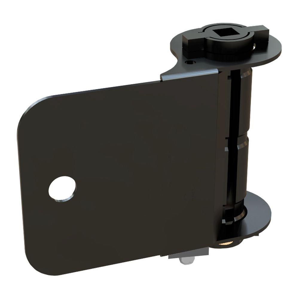fence black single women Self closing gate hinge 2-pack (black finish) |the best set of vinyl fence gate hinges  vinyl fence hardware - single gate kit - black (vinyl gate hinges and latch.