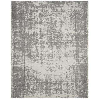 Classic Vintage Silver/Ivory 8 ft. x 10 ft. Area Rug