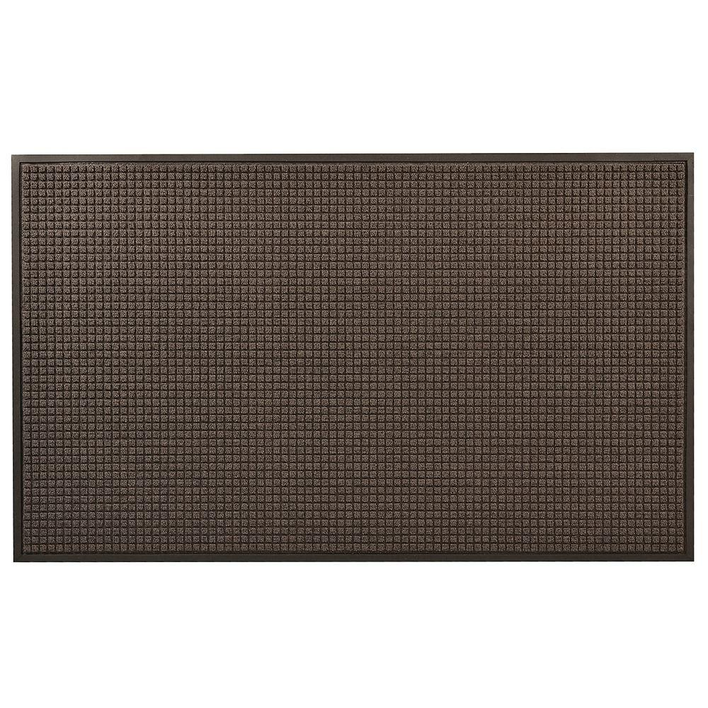 HomeTrax Designs Guzzler Charcoal 36 in. x 48 in. Rubber-Backed Entrance Mat