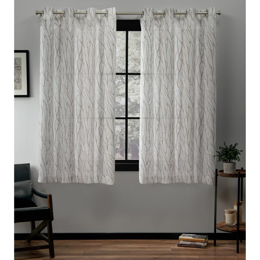 Exclusive Home Curtains Oakdale 54 In. W X 63 In. L Sheer