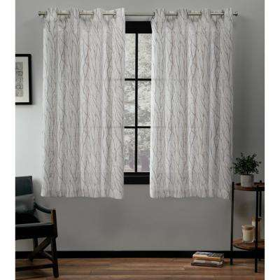 Oakdale Taupe Grommet Top Curtain Pair