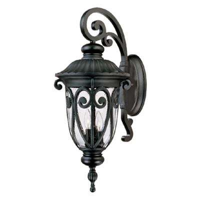 Hailee 3-Light Black Outdoor Wall Mount Lantern