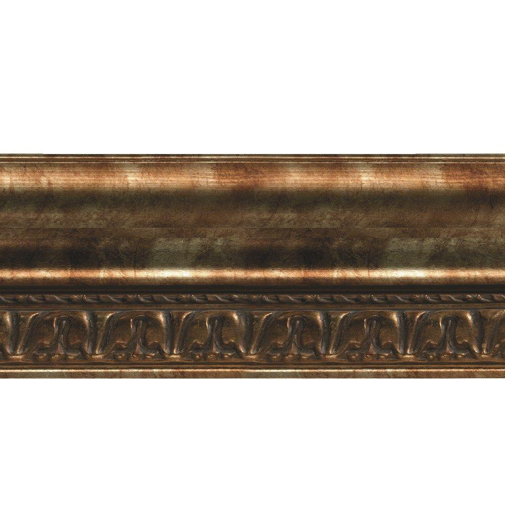 Fasade Grand Baroque 1 in. x 6 in. x 96 in. Wood Ceiling Crown Molding in Bermuda Bronze