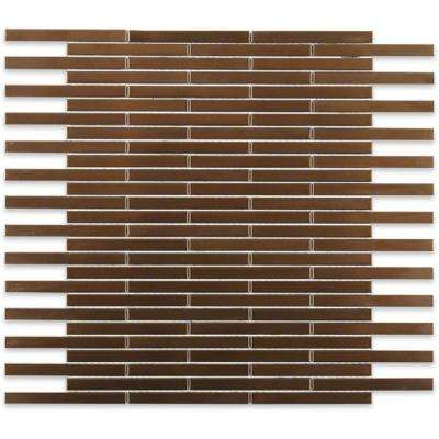 Metal Copper Brick 12 in. x 12 in. x 8 mm Stainless Steel Floor and Wall Tile