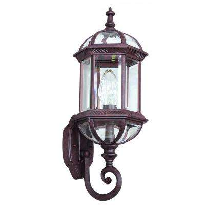 Wilby 1-Light Oil Rubbed Bronze Outdoor Wall Lantern