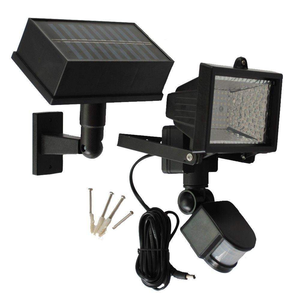 Delicieux Solar Goes Green Solar Powered 50 Ft. Range Black Motion Outdoor 54 LED  Security