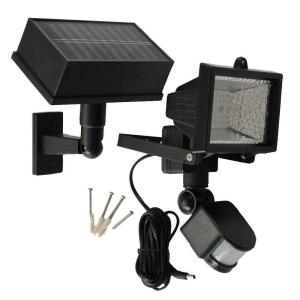 Solar Goes Green Solar Powered 50 ft. Range Black Motion Outdoor 54-LED Security Light by Solar Goes Green