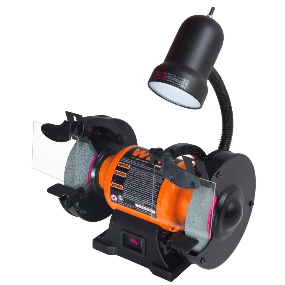 Prime Wen 2 1 Amp 6 In Bench Grinder With Flexible Work Light Creativecarmelina Interior Chair Design Creativecarmelinacom
