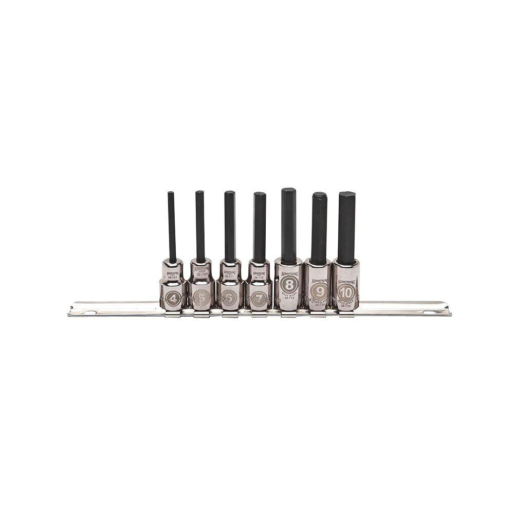 Armstrong 3/8 in. Drive Metric Hex Bit Socket Set (7-Piece)