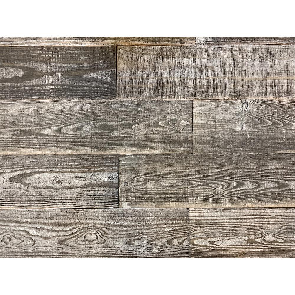 1 4 In X 5 2 Ft Gray Reclaimed Smart Paneling Barn Wood Wall Plank Design 3 12 Case 11332 The Home Depot