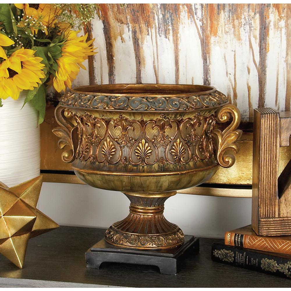 Elegant Golden Decorative Bowl