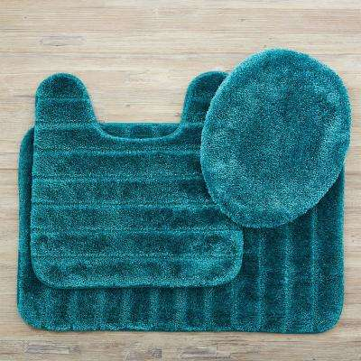 Veranda Bath Rug Teal Set