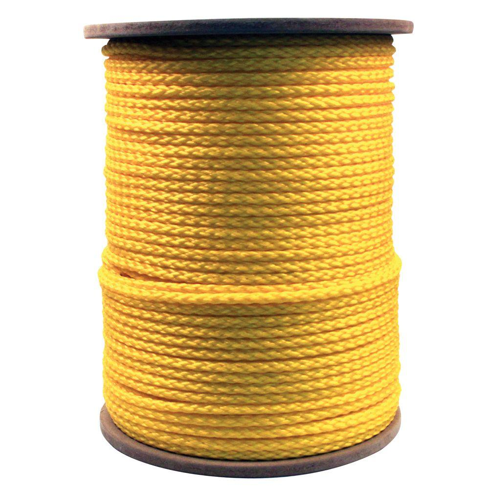 3/8 in  x 1000 ft  Hollow Braided Rope Yellow