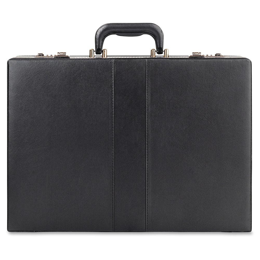 17.5 in. Wide Black Vinyl Classic Expandable Attache with Handle
