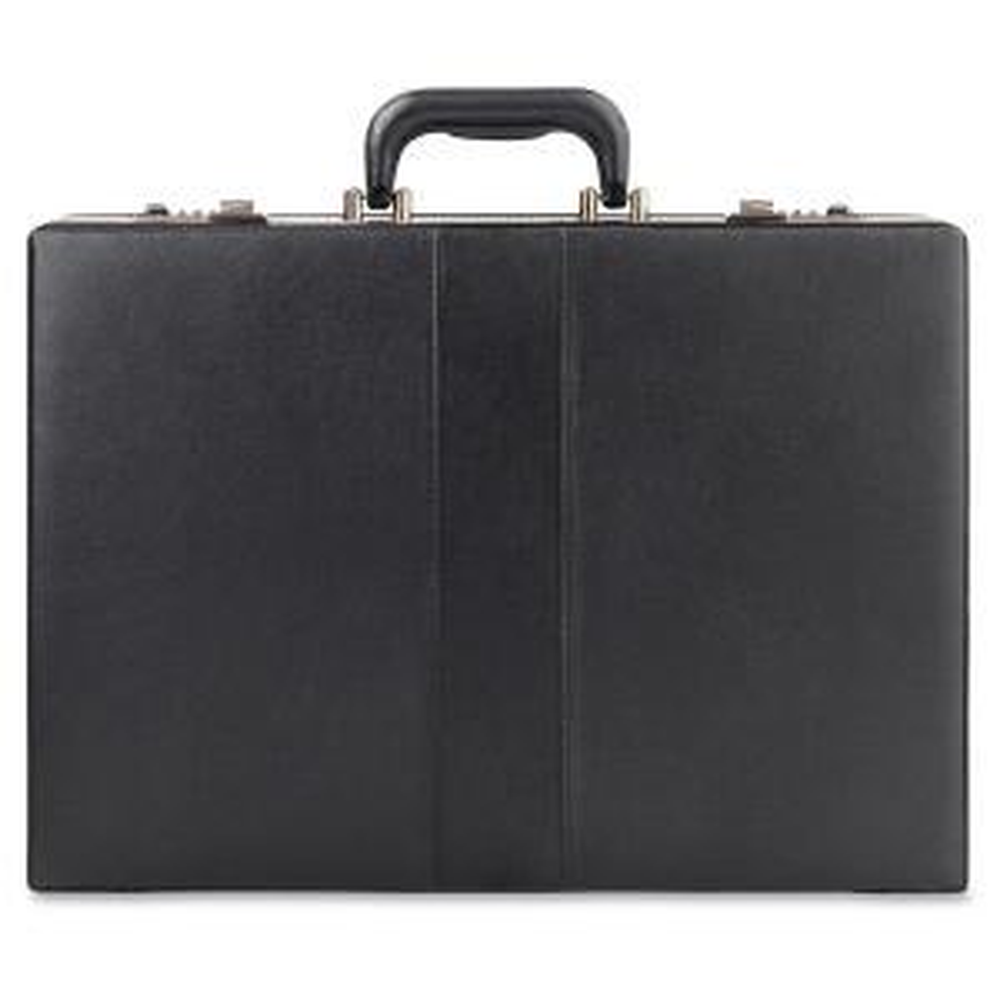 MANCINI Expandable Black Attache Case for 15.6 in. Laptop-ML-86470 ... 7556e8aca93b0