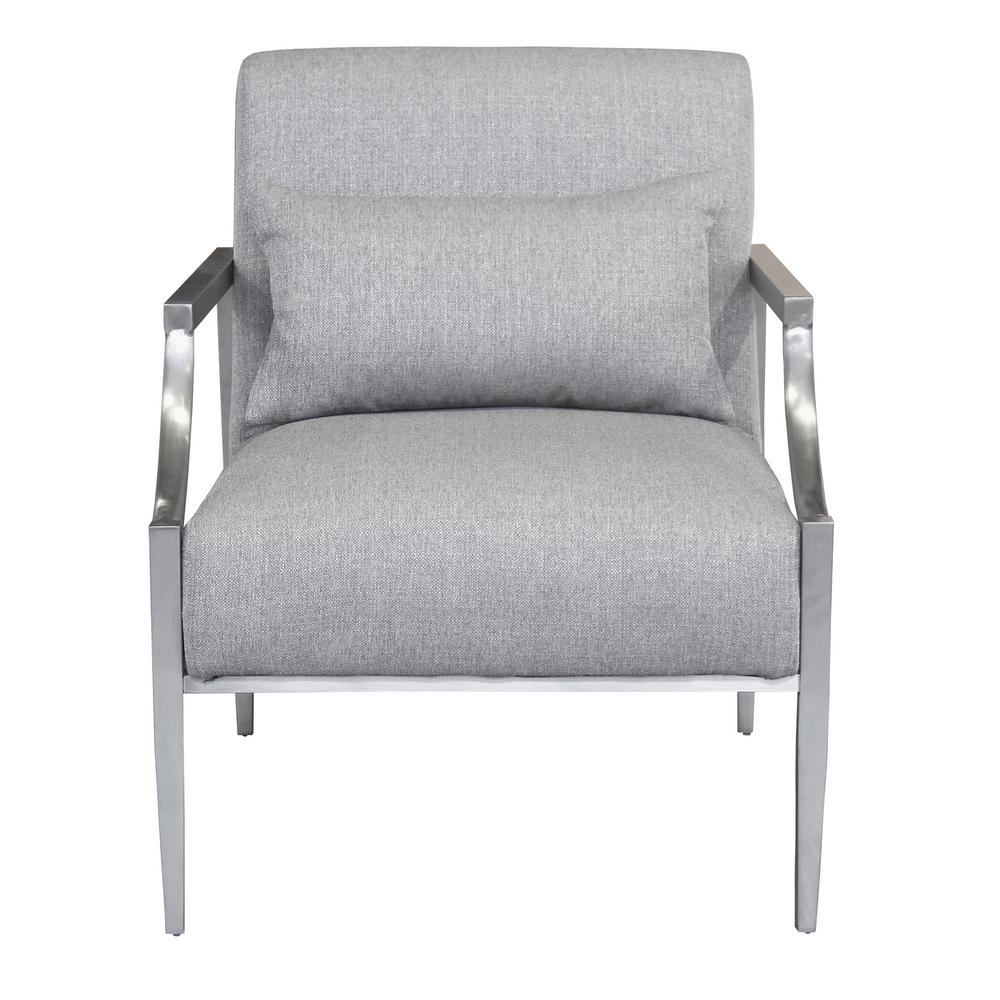 Norton Contemporary Grey Fabric Upholstered Accent Chair