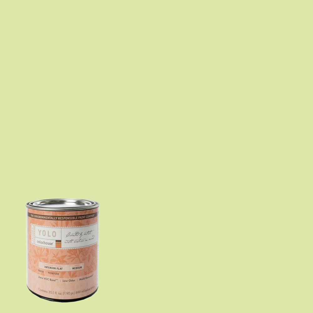 YOLO Colorhouse 1-Qt. Sprout .05 Flat Interior Paint-DISCONTINUED