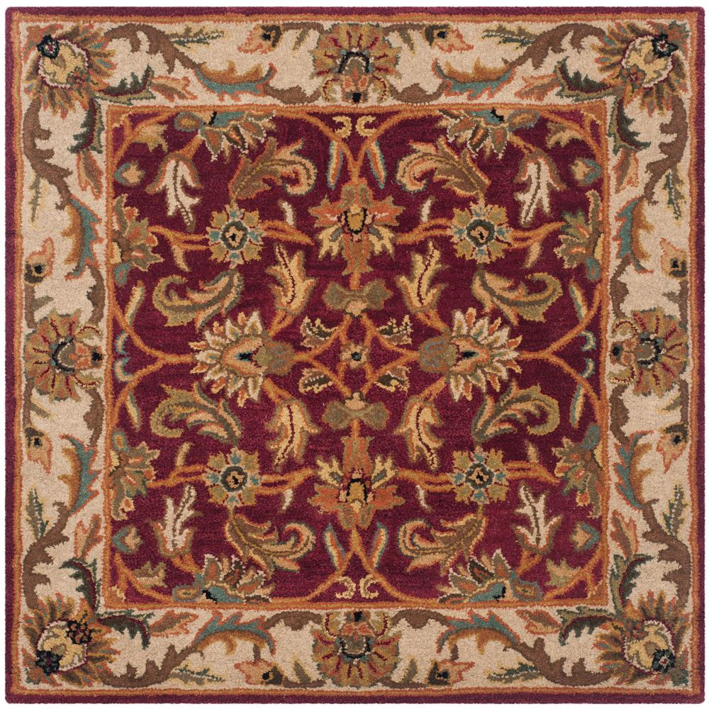 Heritage Red/Ivory 4 ft. x 4 ft. Square Area Rug