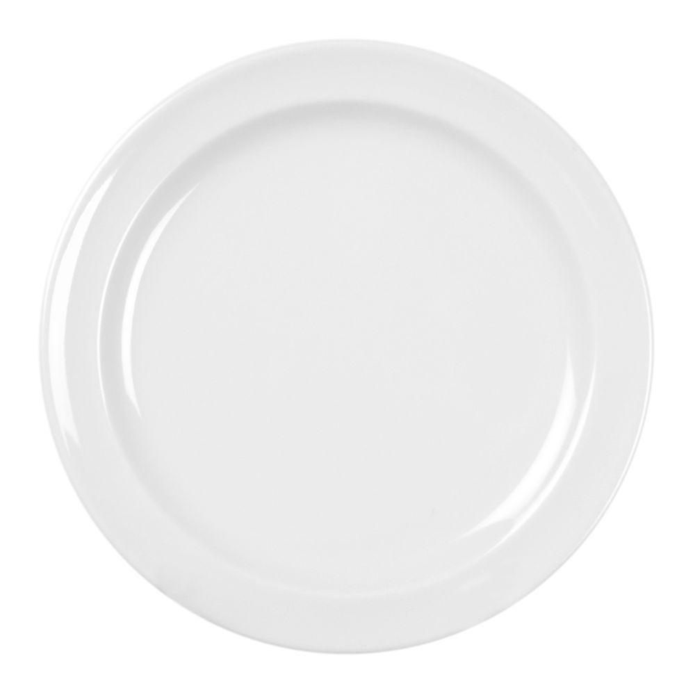 Restaurant Essentials Coleur 9 in. Dinner Plate in White (12-Piece)