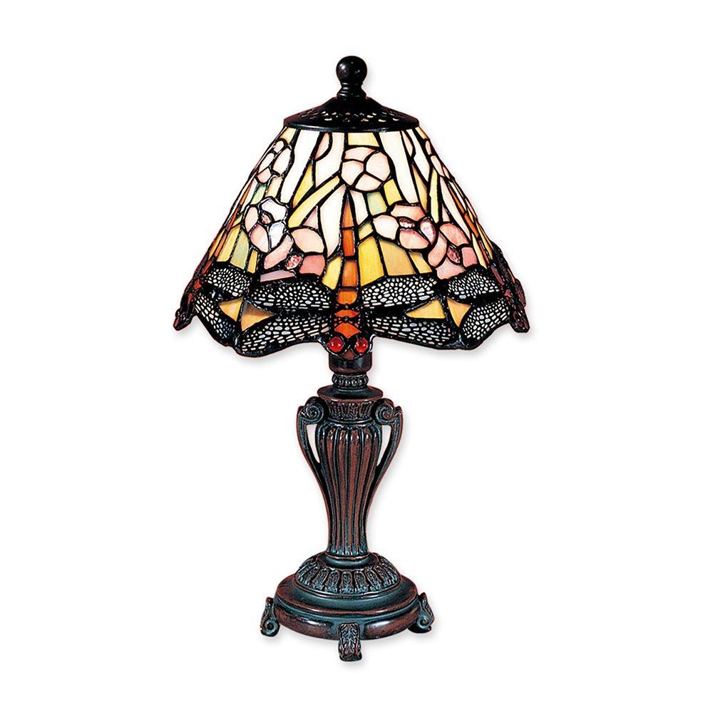 13 in. Dragonfly Antique Bronze Accent Lamp
