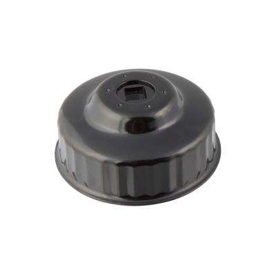 76 mm x 30 Flute Oil Filter Cap Wrench in Black