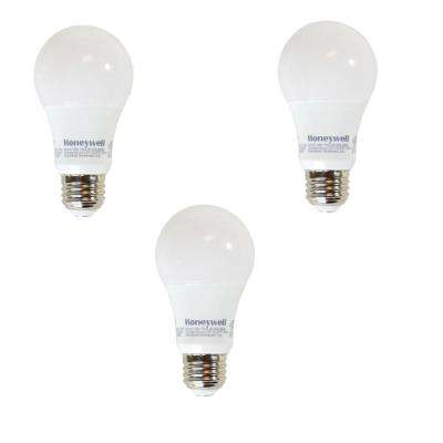 40W Equivalent Warm White A19 Dimmable LED Light Bule (3-Pack)