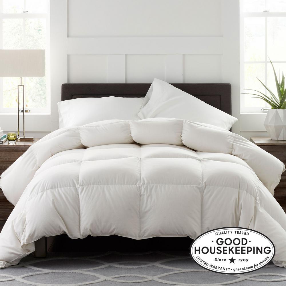 Legends Luxury Geneva Super Light Warmth White Queen Oversized Goose Down Comforter