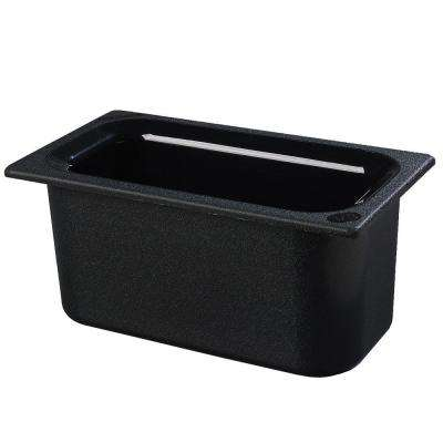 Coldmaster 6 in. Third Size Deep Black Standard Food Pan