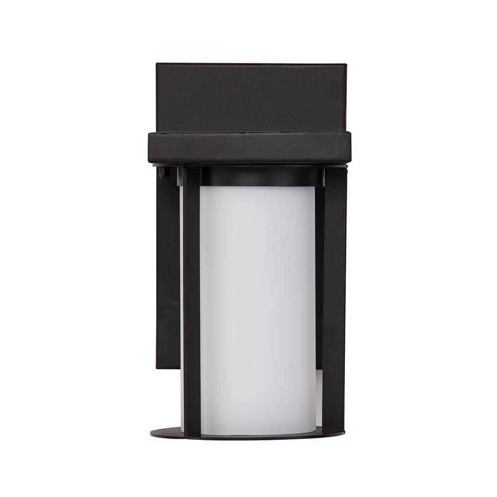 Lanna Black Integrated LED Outdoor Wall Mount Sconce Lamp