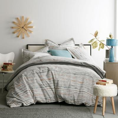 Trackside Organic Cotton Percale Duvet Cover Set