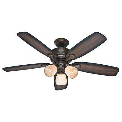 Banbury 52 in. Indoor Cocoa Bronze Ceiling Fan